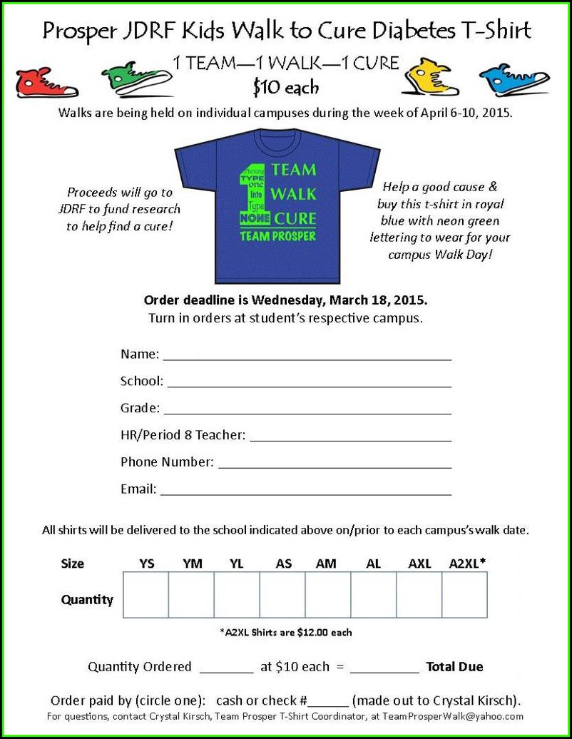 Jdrf Walk Donation Form