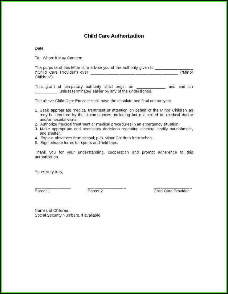 Legal Forms Of Temporary Custody Of Grandchildren