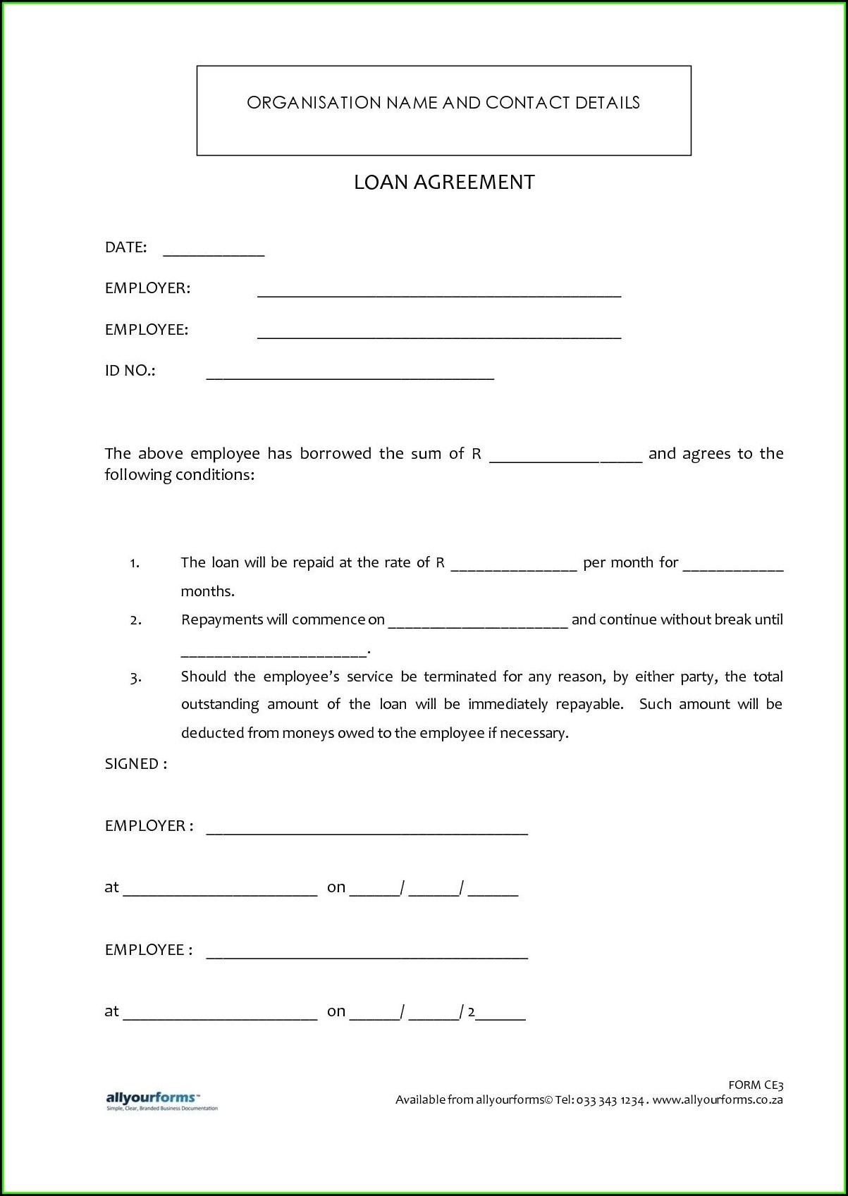 Loan Agreement Sample Format