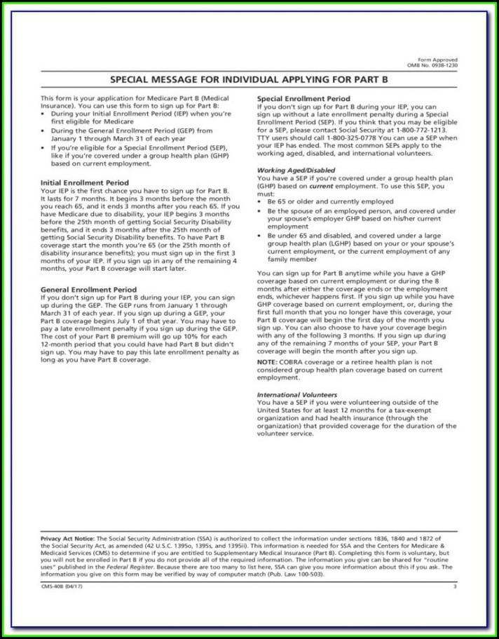 Medicare Enrolment Form 3101