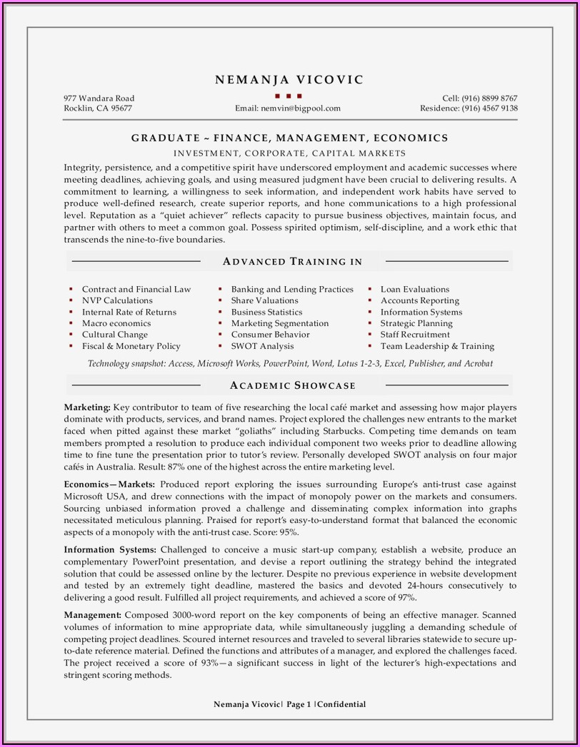 Microsoft Word Resume Templates Free 2016