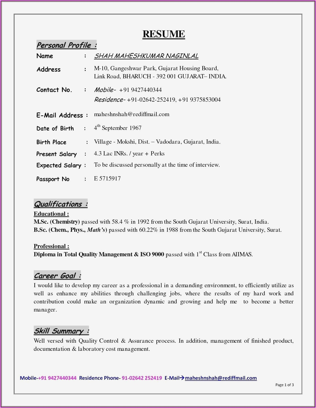 Mobile App Testing Resume Sample
