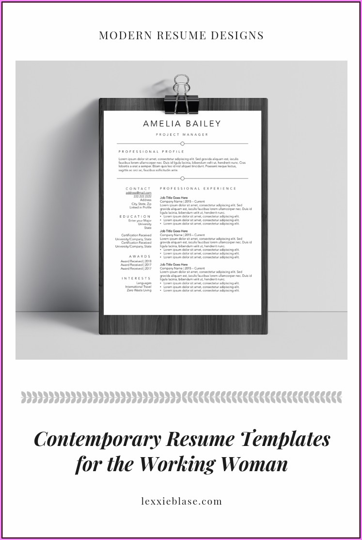 Modern Resume Template Builder
