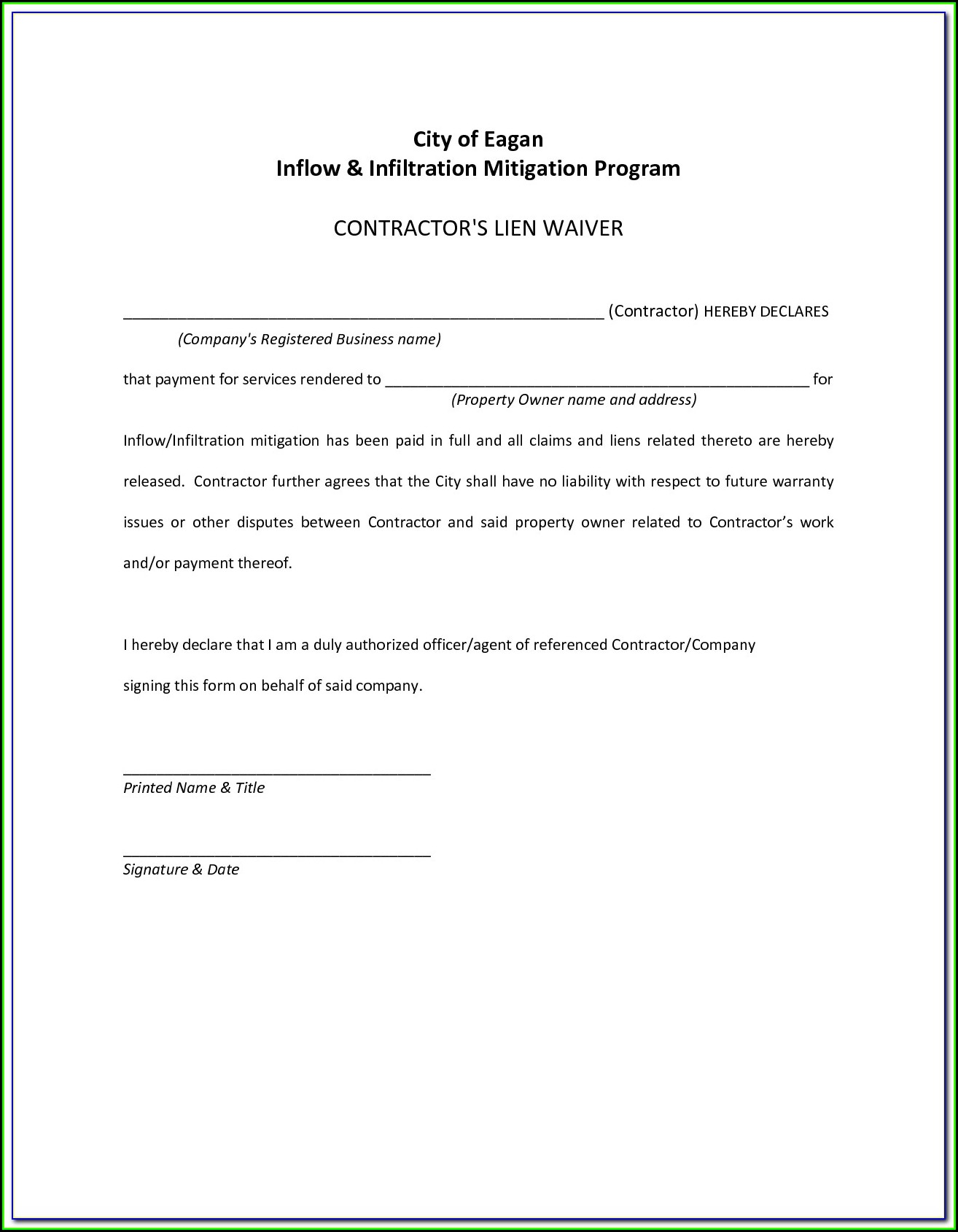 Mortgage Lien Release Form Texas