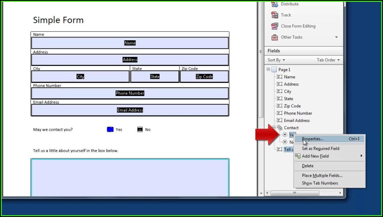 Pdf Editable Forms Creator