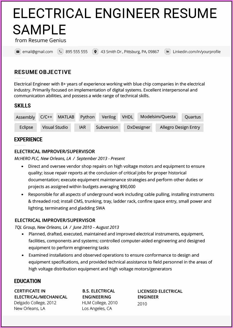 Printable Blank Resume Template Pdf