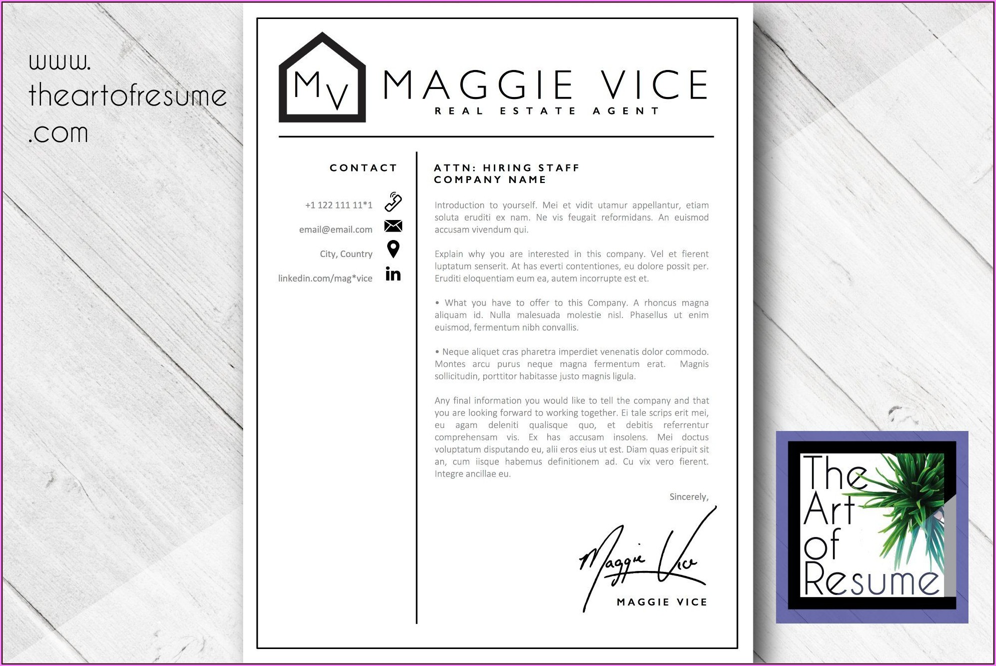 Real Estate Agent Cv Template