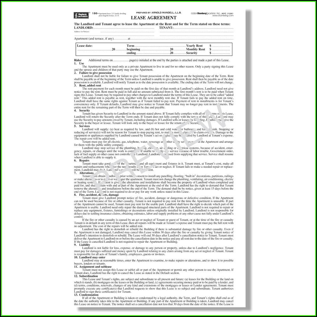 Rent Stabilized Lease Renewal Form Nyc 2019