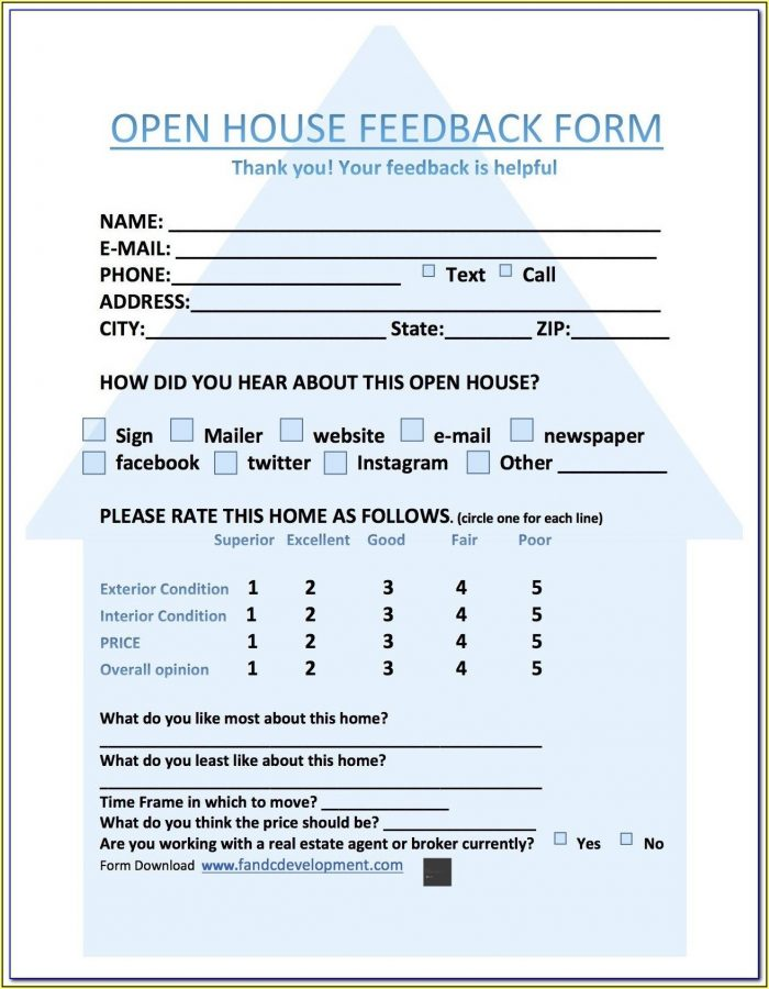 Restaurant Customer Feedback Form Template Free Download
