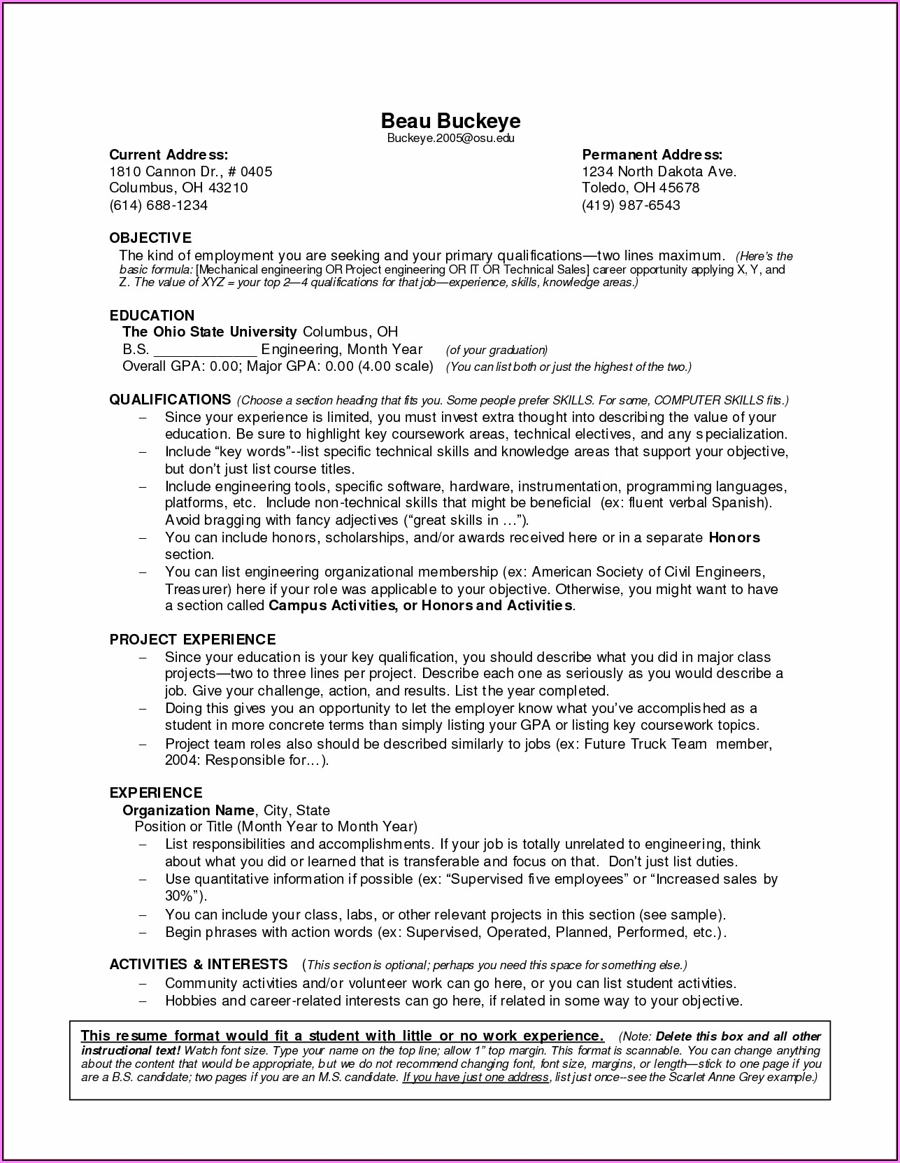 Resume Builder For Someone With No Work Experience