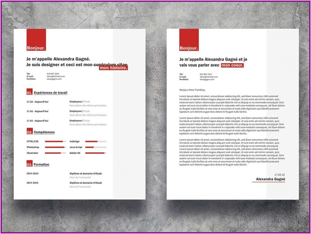 Resume Cover Letter Template Word Free