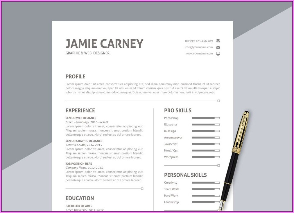 Resume Format Download In Ms Word