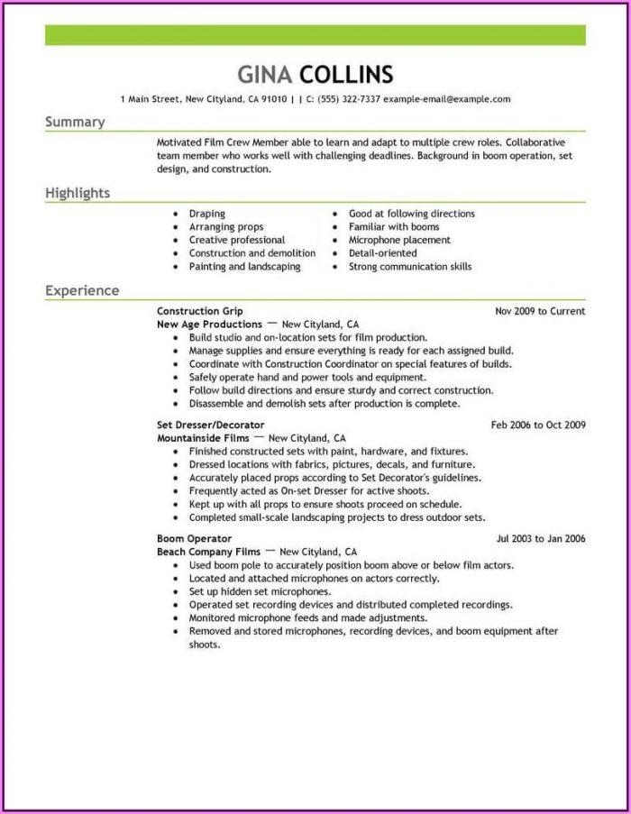 Resume Template Blank Google Docs