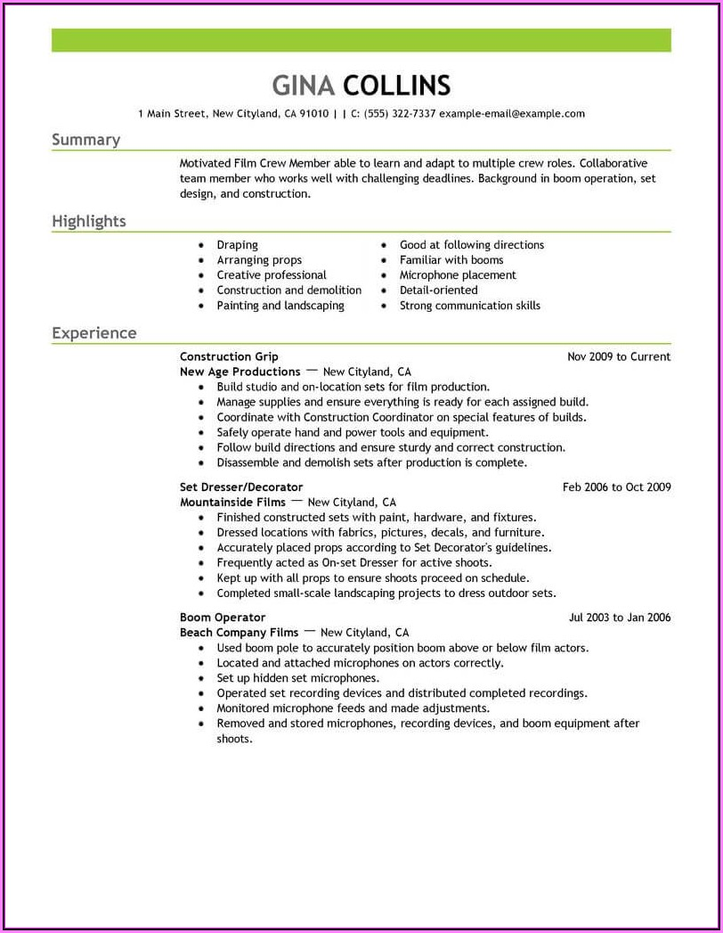 Resume Template Blank Google Docs