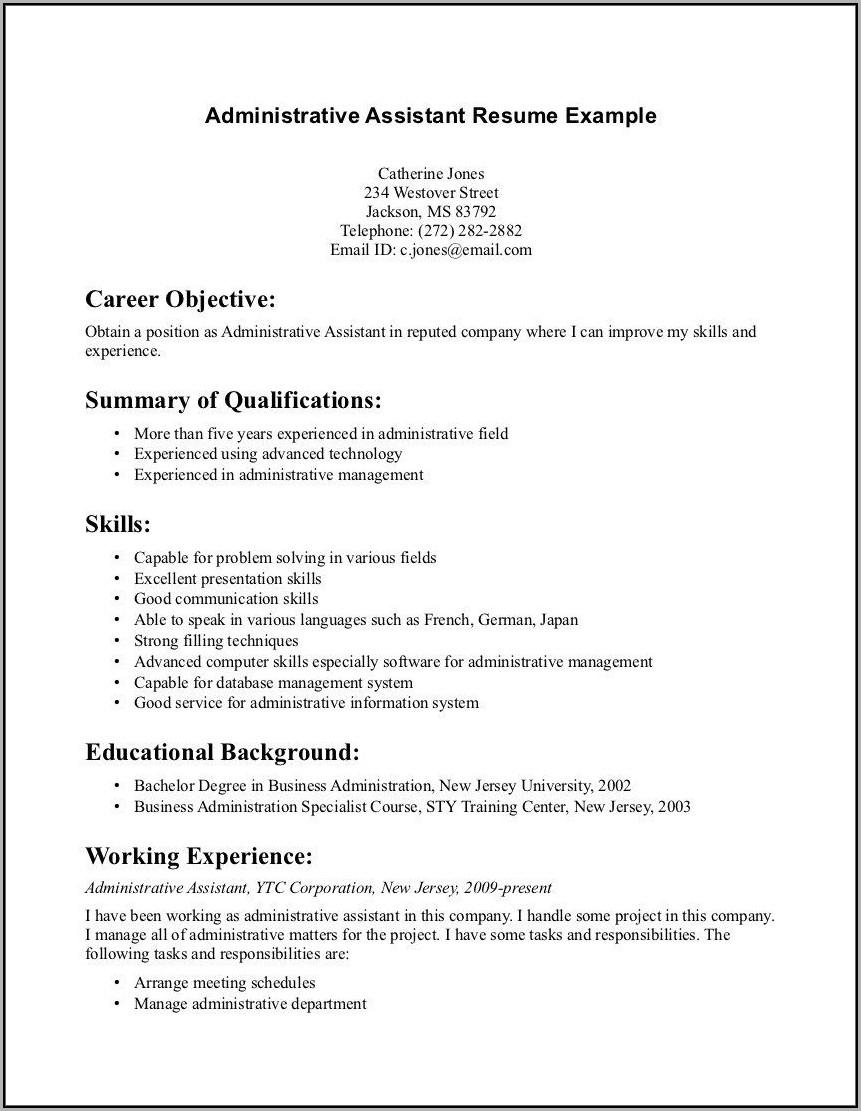 Resume Template For Dental Assistant