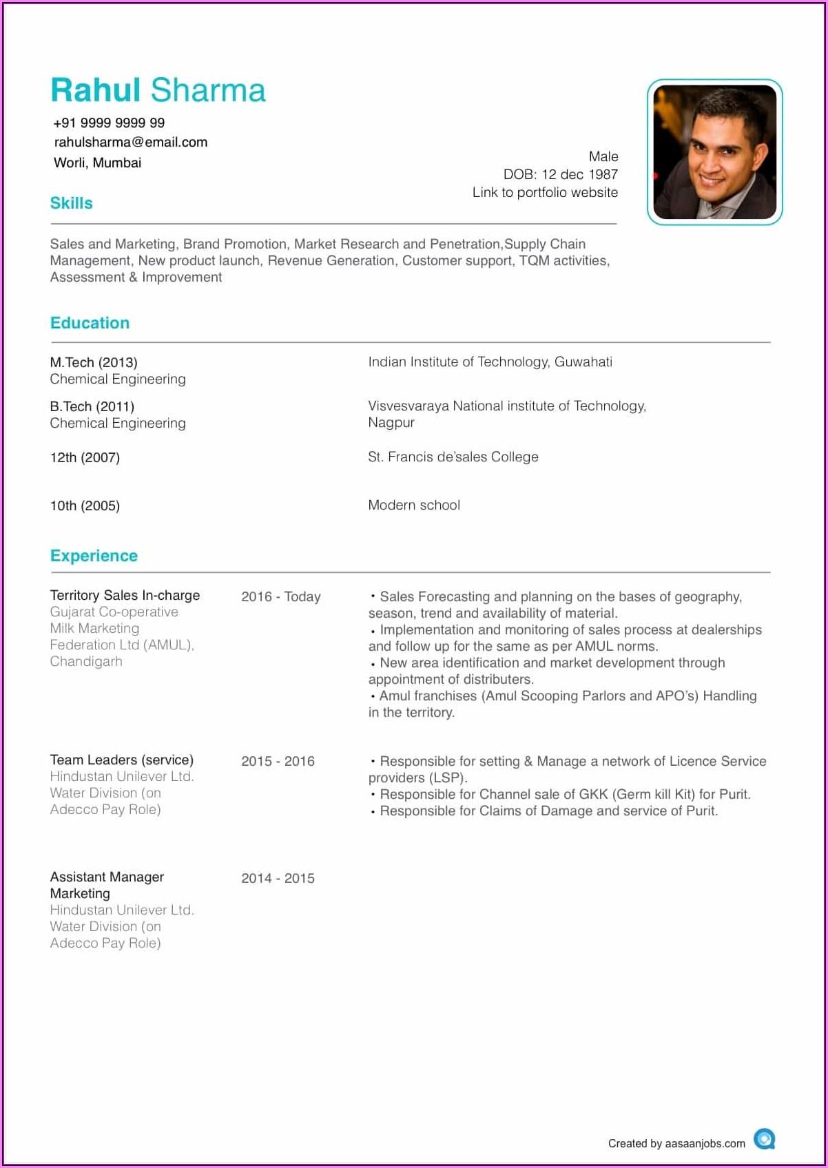 Resume Template For Nursing Position