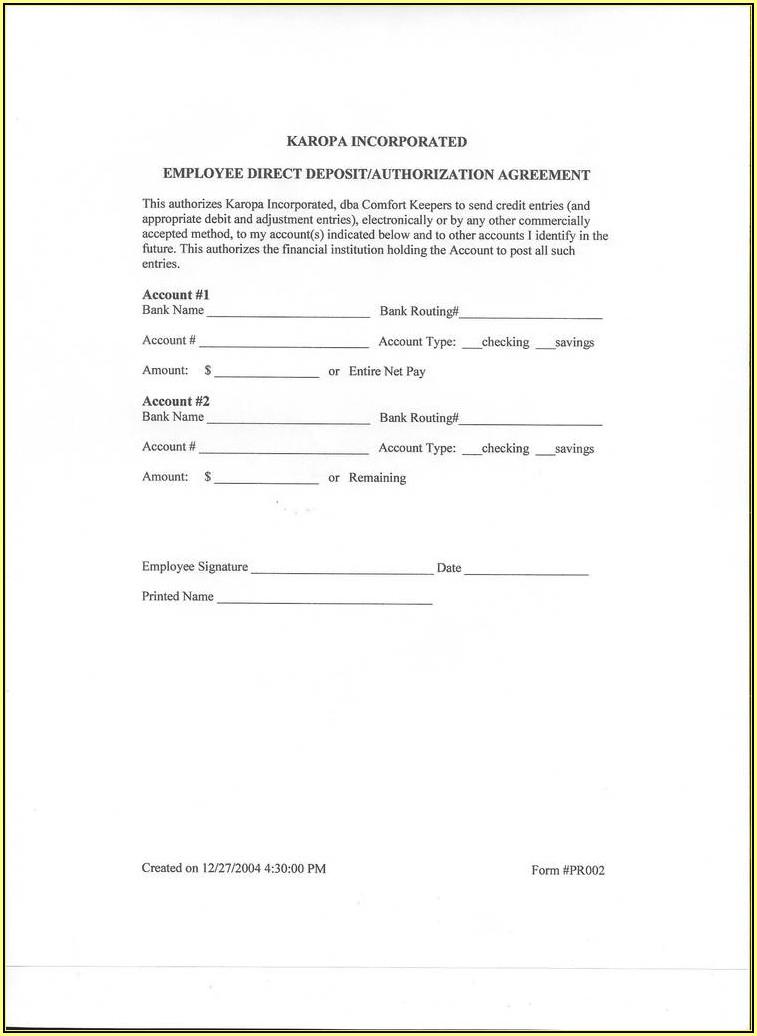 Rushcard Direct Deposit Form
