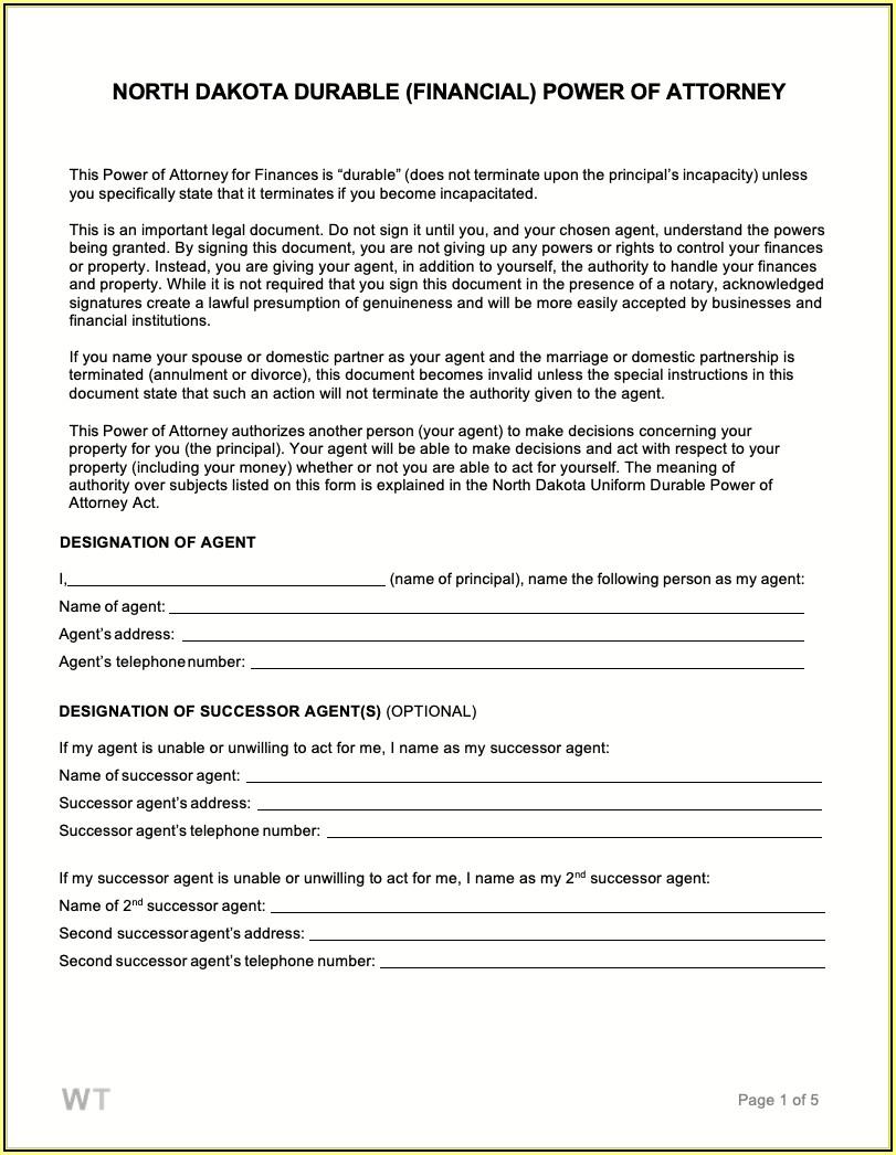 State Of North Dakota Legal Forms