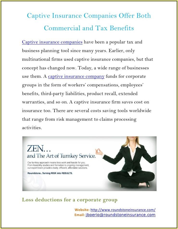 Tax Benefits Of A Captive Insurance Company