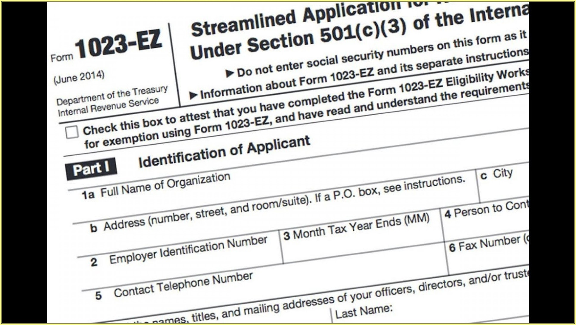 Tax Ez Form 2019
