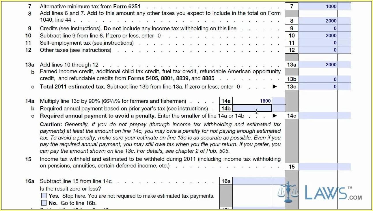 Tax Form 1040 Es