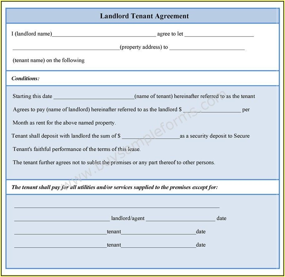 Tenant Background Check Form Template