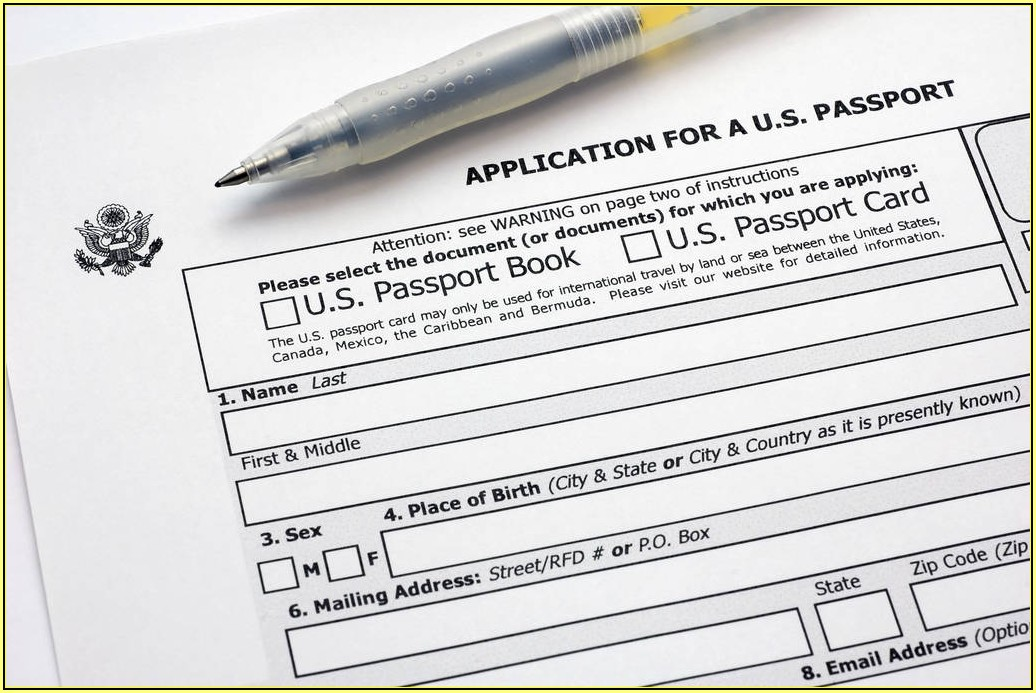 United States Child Passport Renewal Form