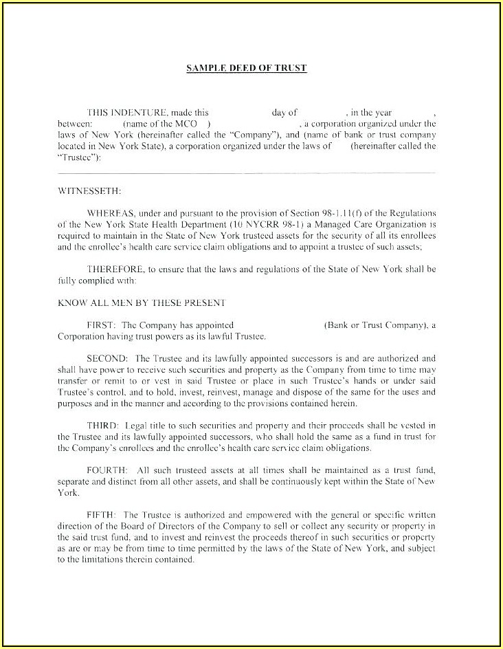 Warranty Deed Template Texas