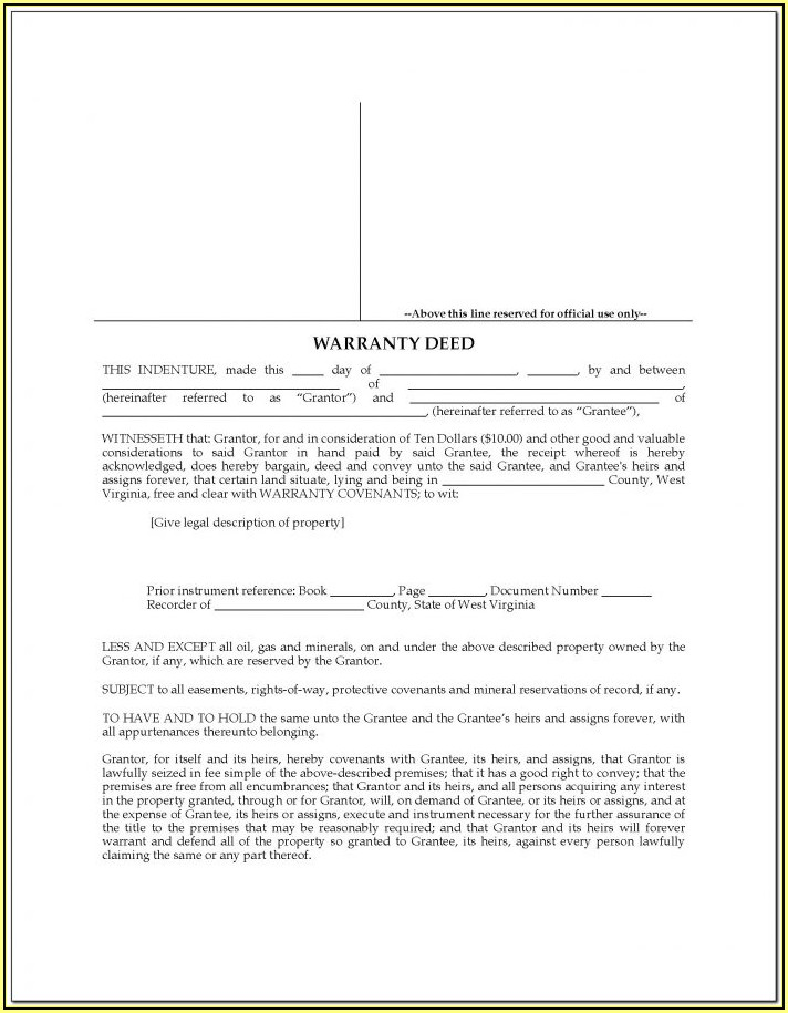 West Virginia Mechanic's Lien Form