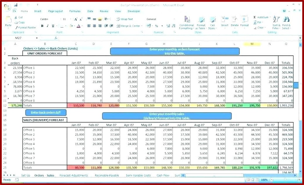 12 Month Rolling Cash Flow Forecast Template