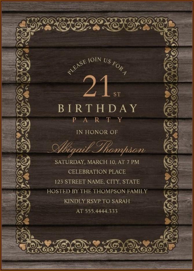 21st Birthday Invitation Templates Online