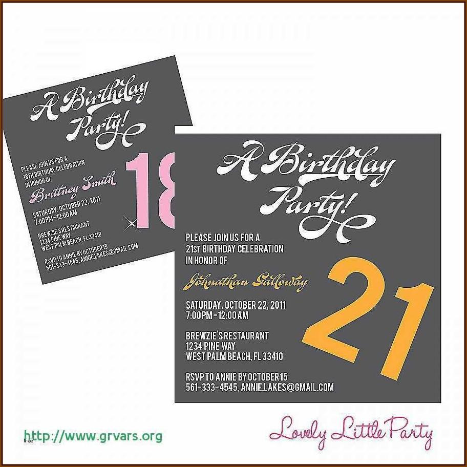 21st Birthday Invitation Templates Word