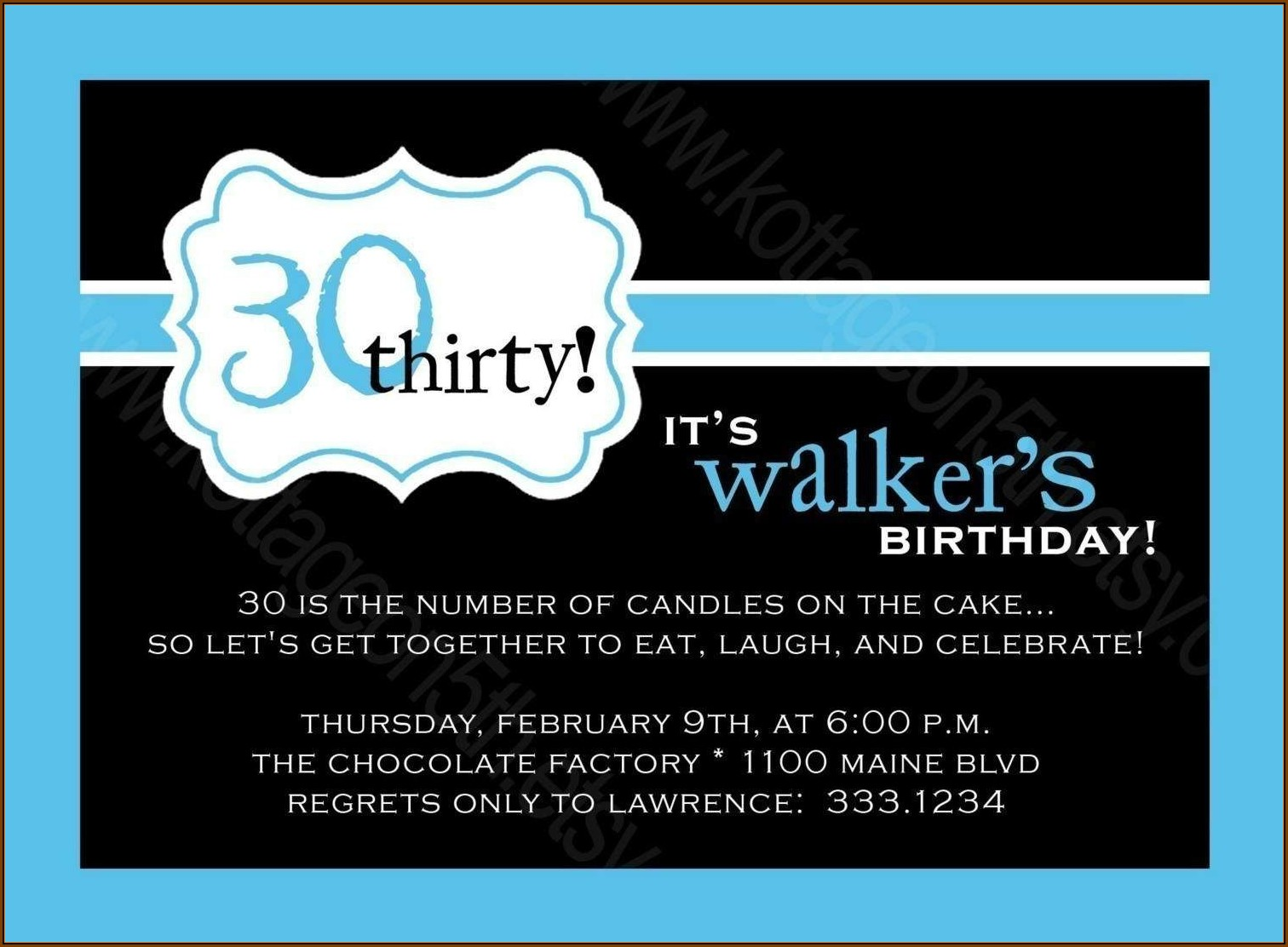 30th Surprise Birthday Party Invitation Template Free