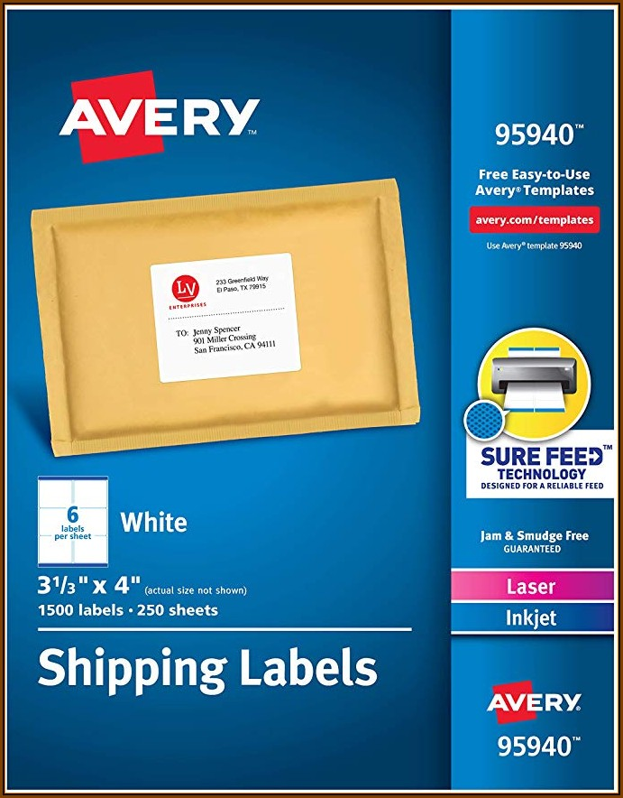 3x4 Shipping Label Template