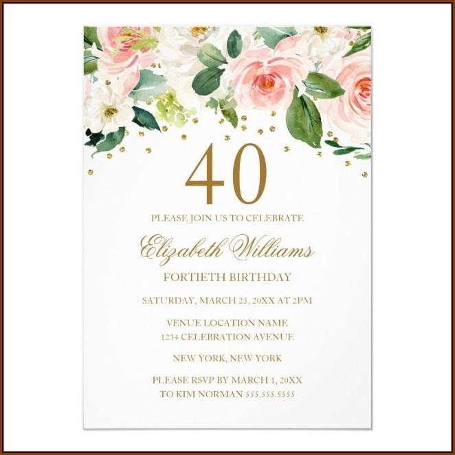 40th Birthday Invitation Maker