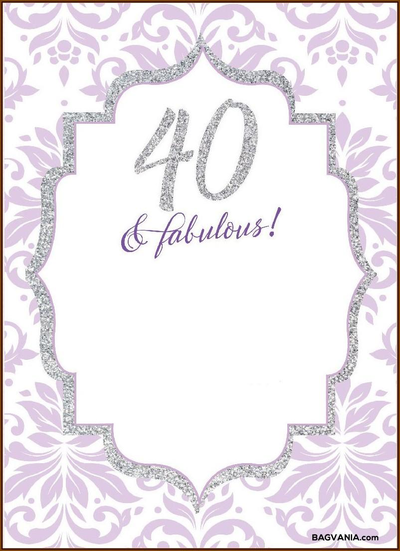 40th Birthday Invitation Templates Free
