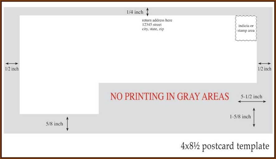 6x11 Postcard Template