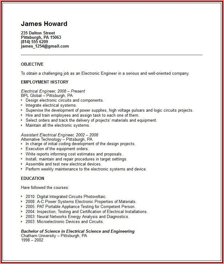 Appliance Repair Technician Sample Resume
