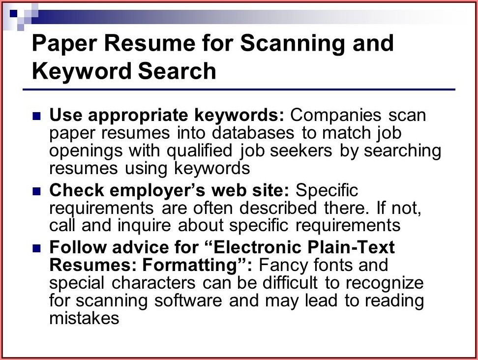 Applicant Tracking System Software Resume