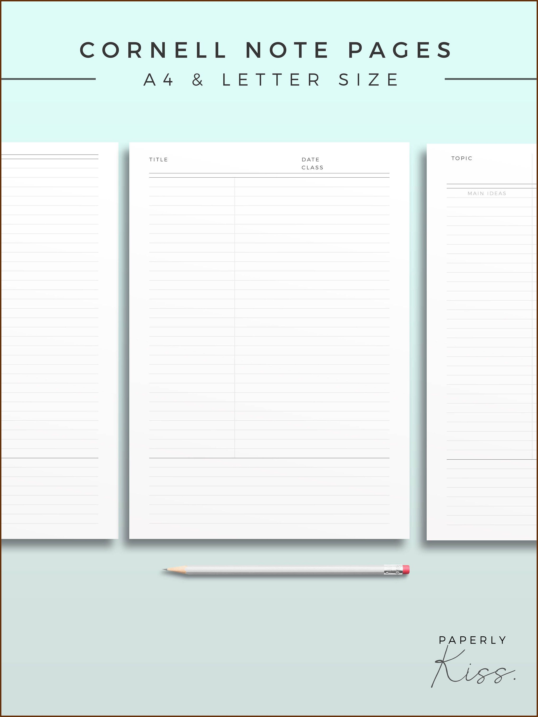 Arc Notebook Page Templates