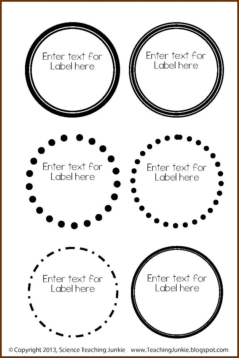 Avery 2 Circle Label Template