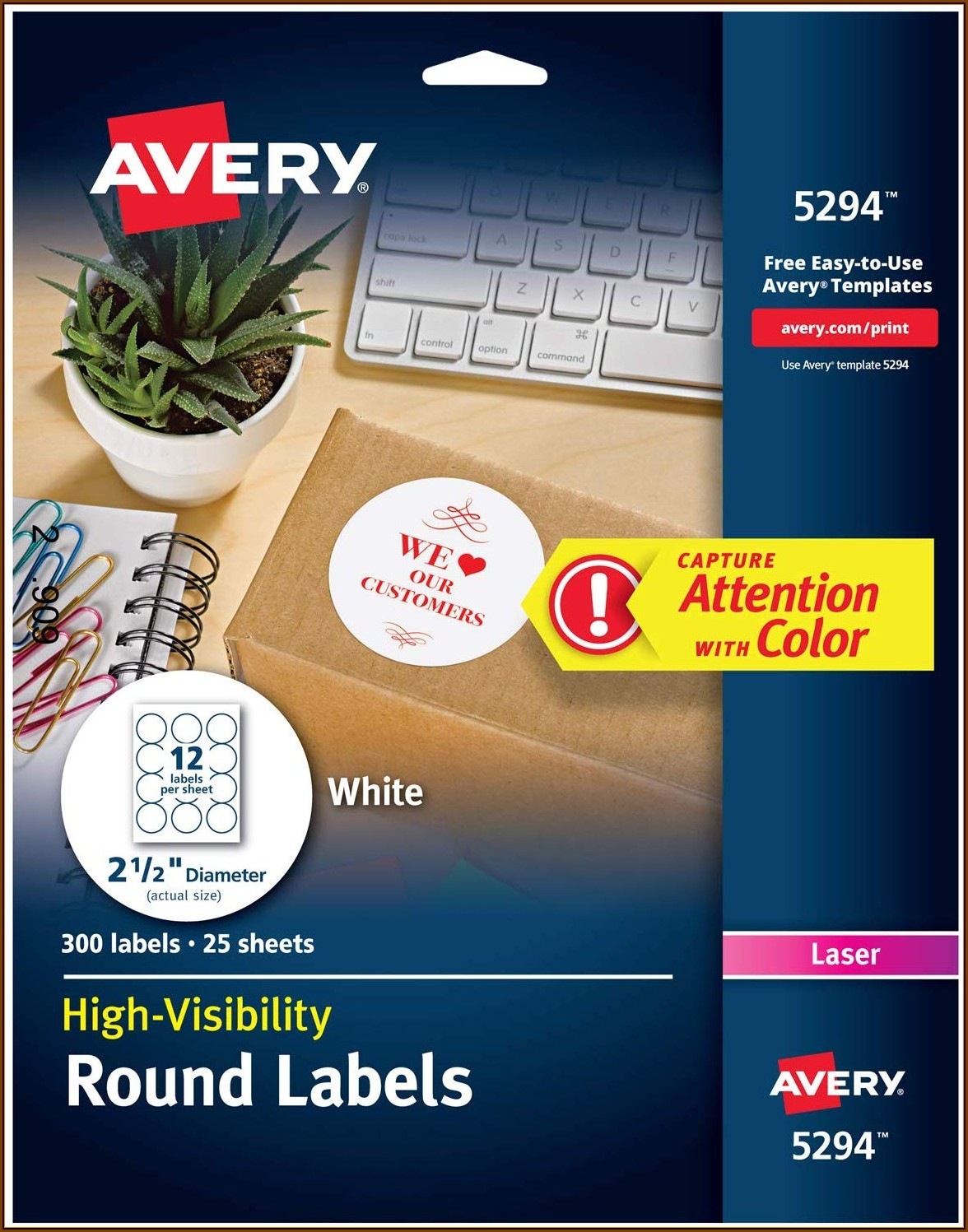Avery Circle Labels Template 5294
