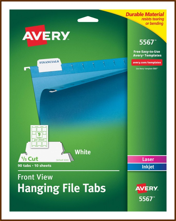 Avery Hanging File Folder Tab Template