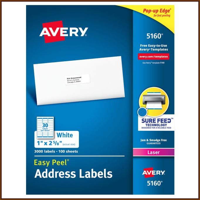 Avery Label Printing Template 5160