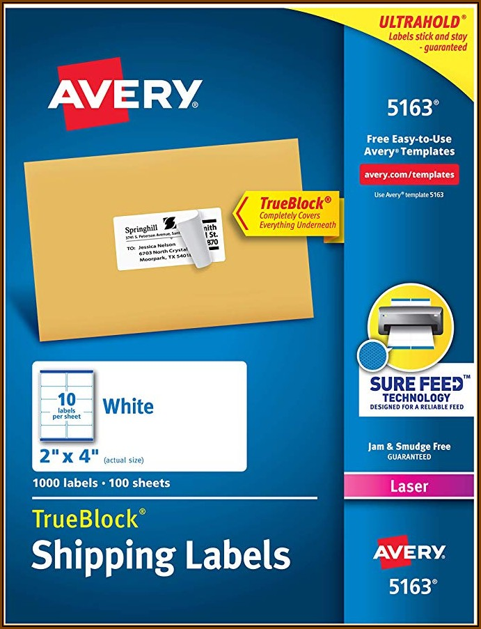 Avery Label Printing Template 5163