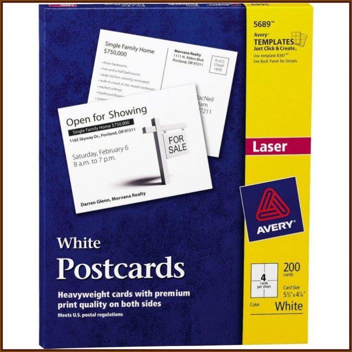 Avery Postcard Template 4 Per Sheet