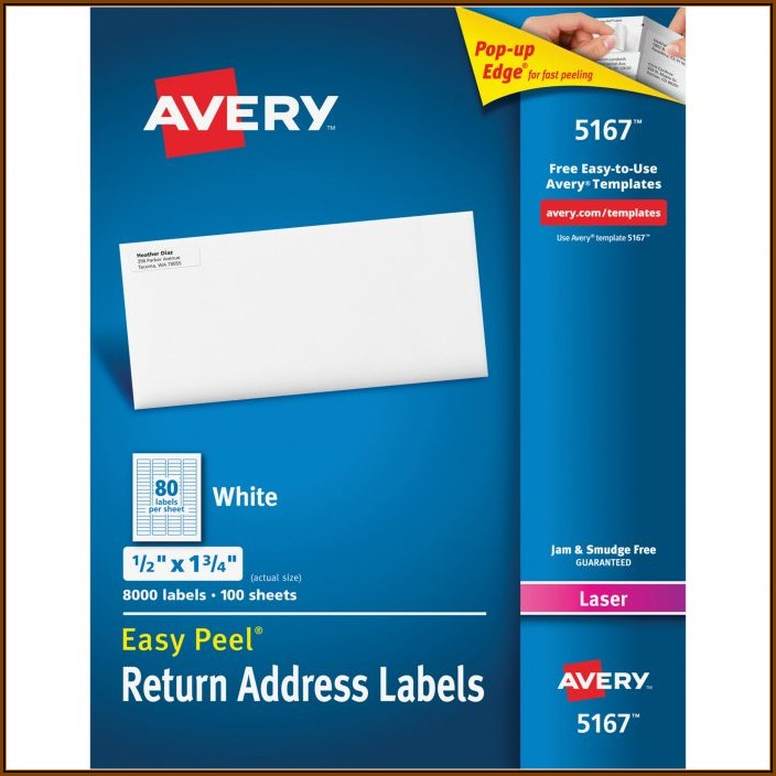 Avery Return Address Labels 80 Per Sheet Template
