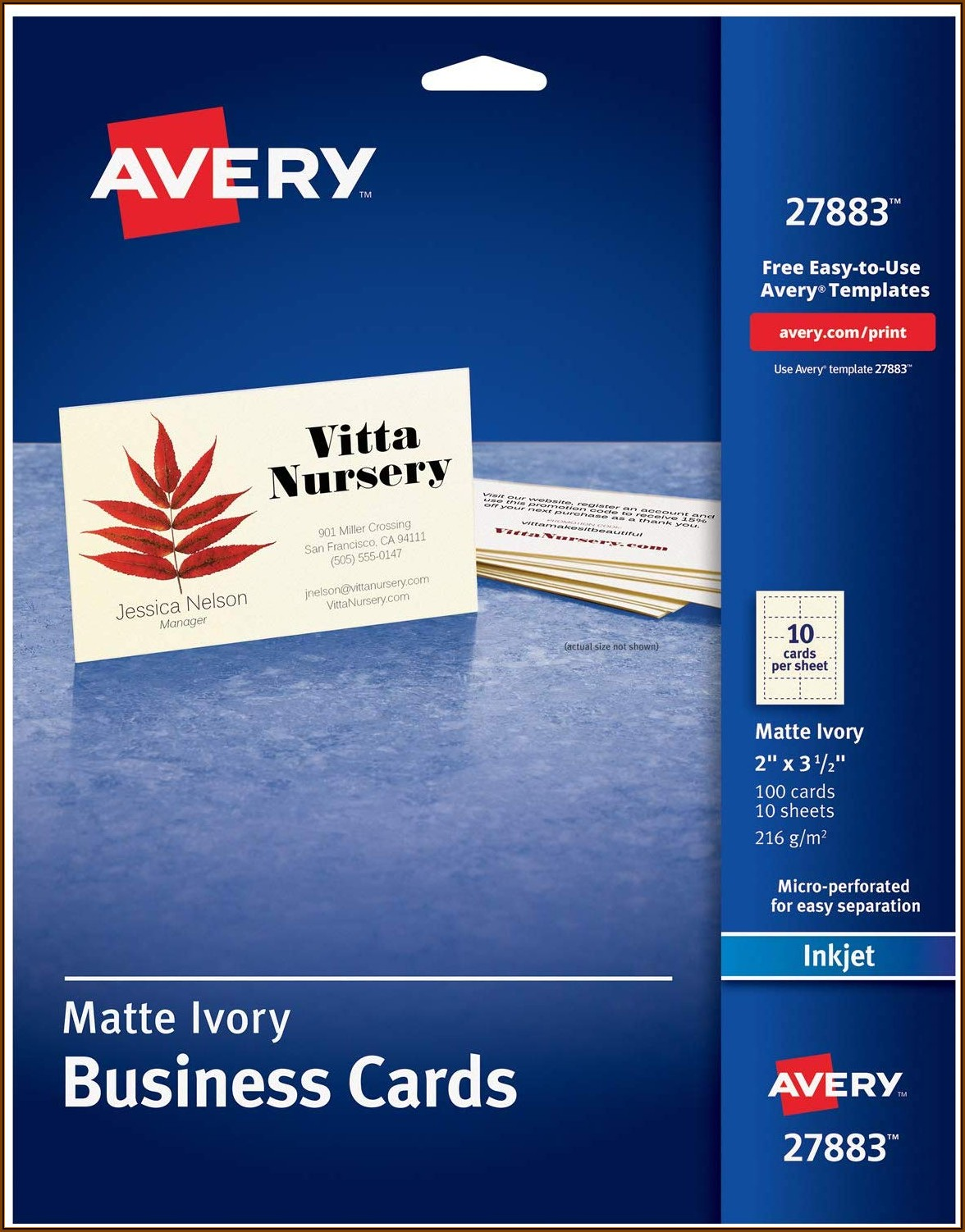 Avery Templates 8876 Business Cards