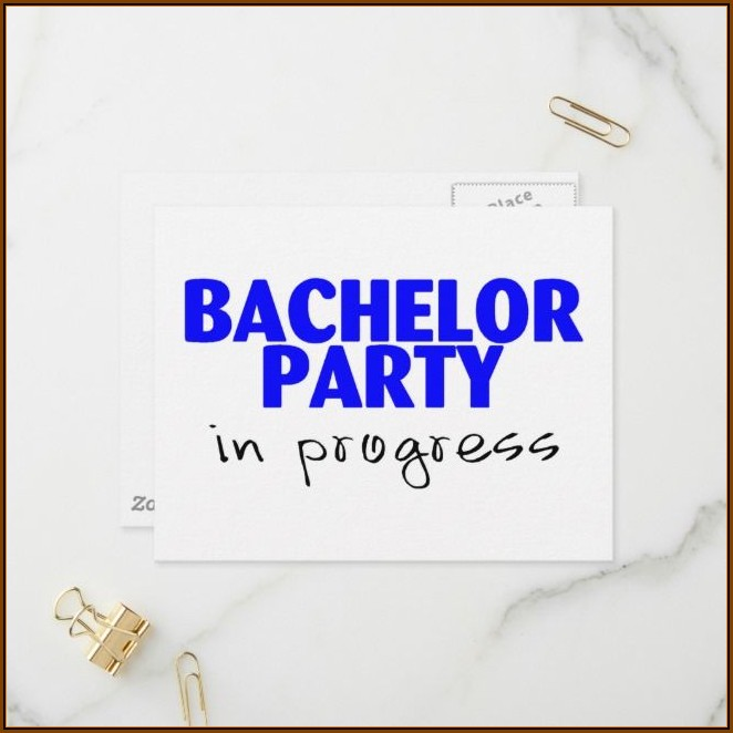 Bachelor Party Invitation Card Design