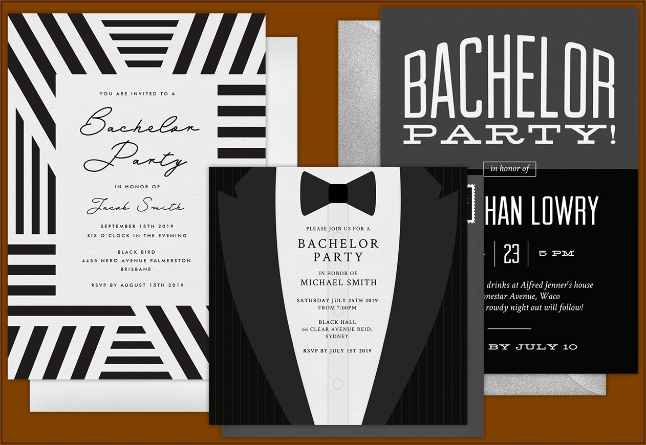 Bachelor Party Invitation Cards Templates